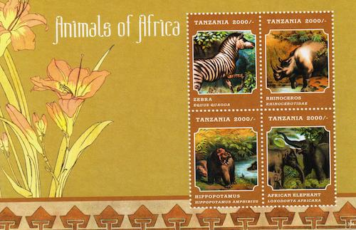 Animals of Africa Stamp Set