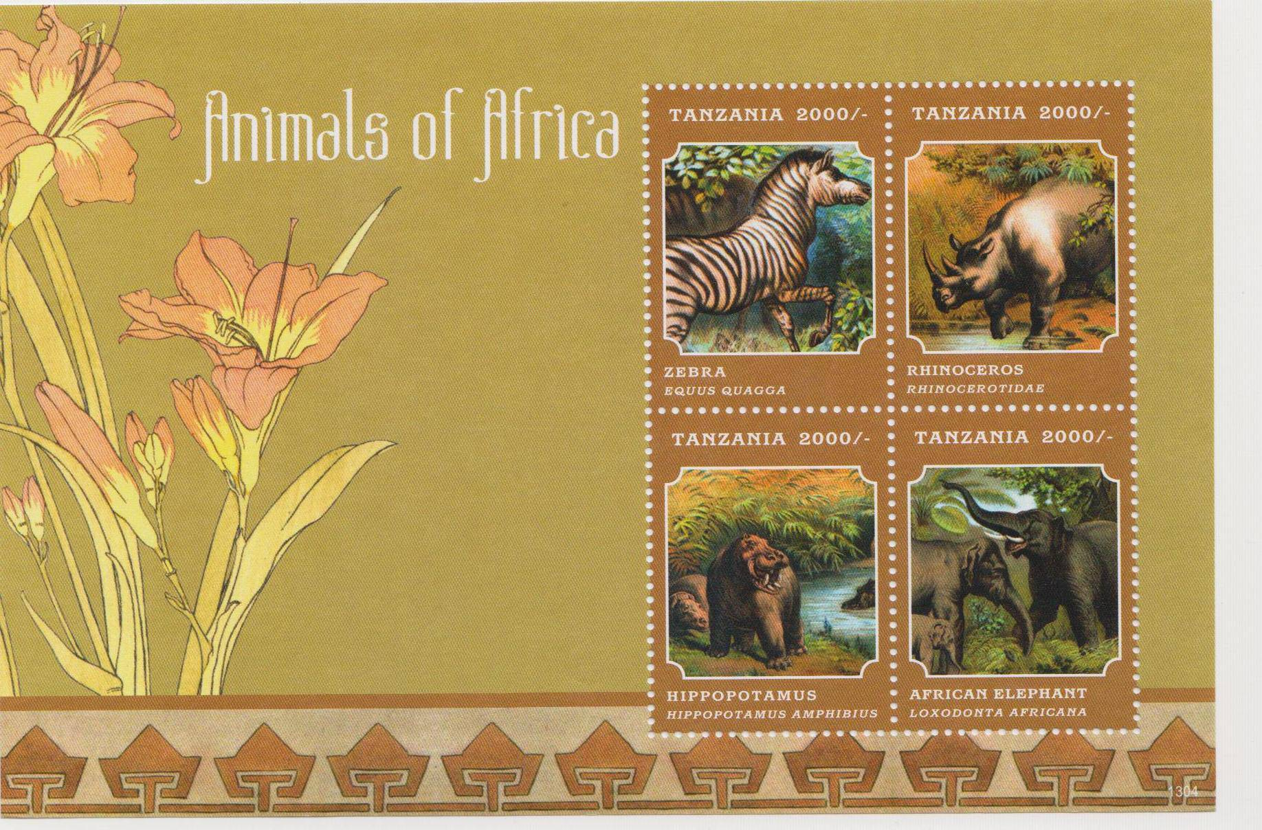 Stamps Africa 50 Different African Animals Stamps