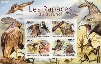 Birds of Prey of Burundi Stamp Set
