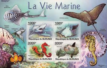 Marine Life Stamp Set