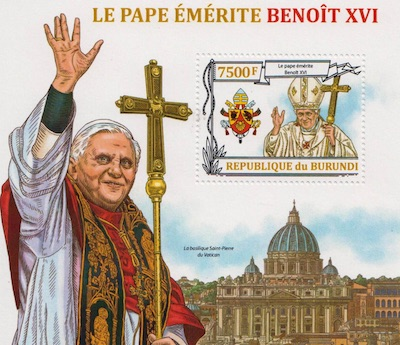 Pope Benedict XVI 1 Stamp Set