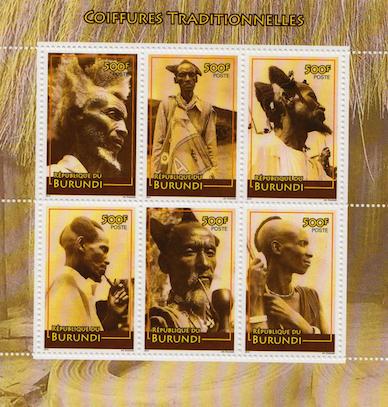 Traditional Haircuts of Burundi  Stamp Set