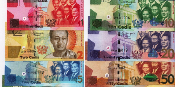 1, 2, 5, 10, 20, and 50 Cedis  UNC 6 Banknote Set