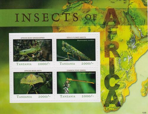 Insects of Africa Stamp Set