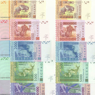 Ivory Coast (WAS) Banknotes