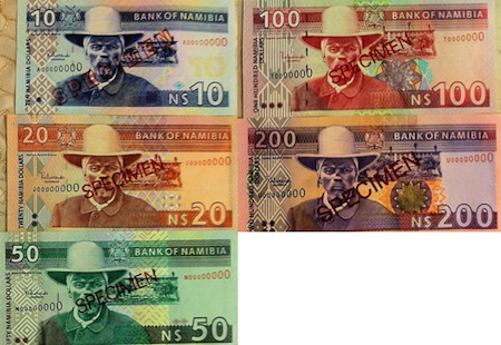 10, 20, 50, 100, 200 Dollar  UNC 5 Banknote Set
