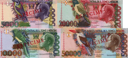 5,000, 10,000, 20,000 and 50,000 Debros  UNC 5 Banknote Set
