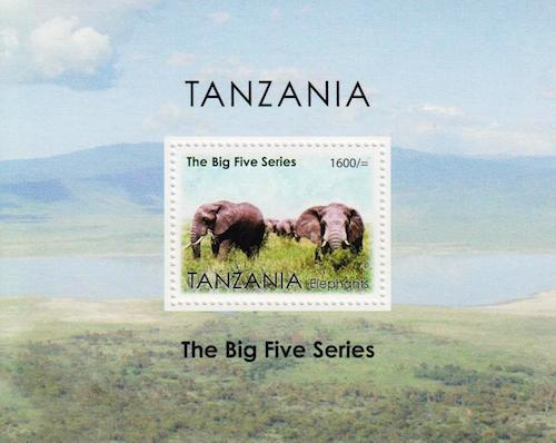 Tanzania Big Five Series Stamp - Elephant
